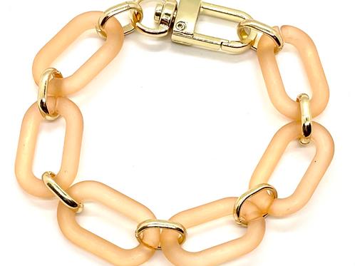 Orange Link Bracelet