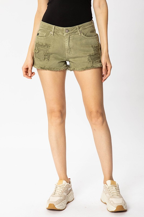 Kan Can Mid Rise Boyfriend Fit Shorts
