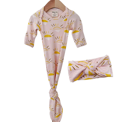 Pink Sun Gown Set