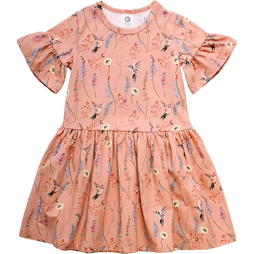 Hummingbird Print Dress