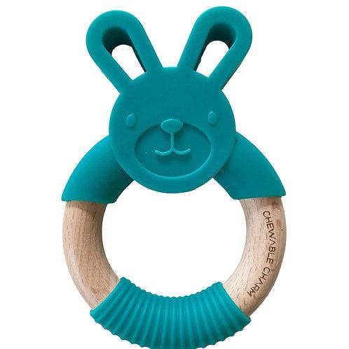 Bunny Silicone + Wood Teether
