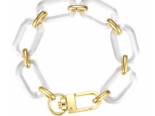 Clear Link Bracelet
