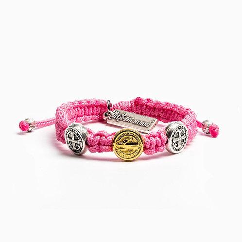 Pink Benedictine Blessing Bracelet For Kids