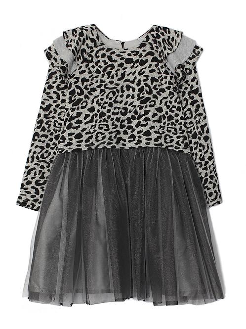 Isobella and Chloe Cheetah Tulle Dress