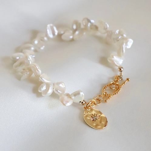 Pearl and Starburst Bracelet
