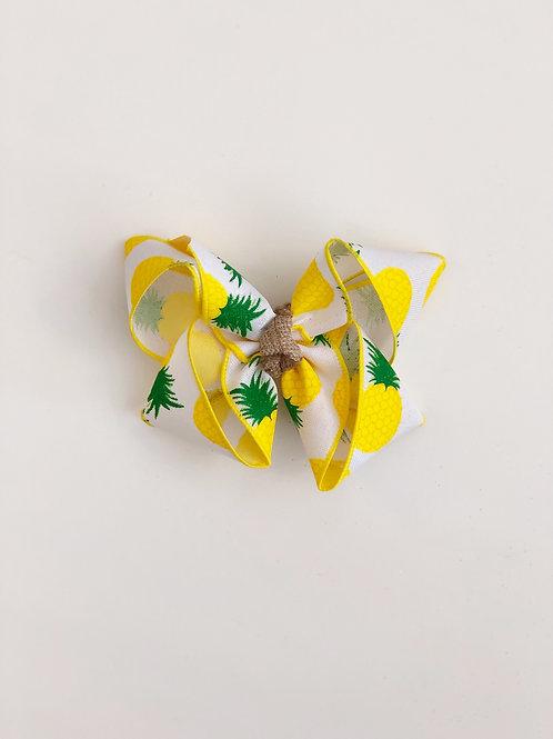 Pineapple Print Bow
