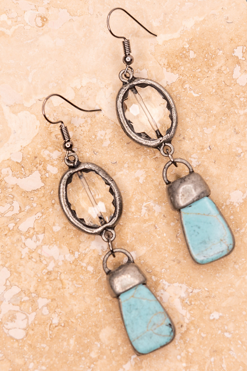 Stone Crystal Earring