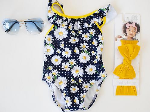 Daisy Print Swimsuit