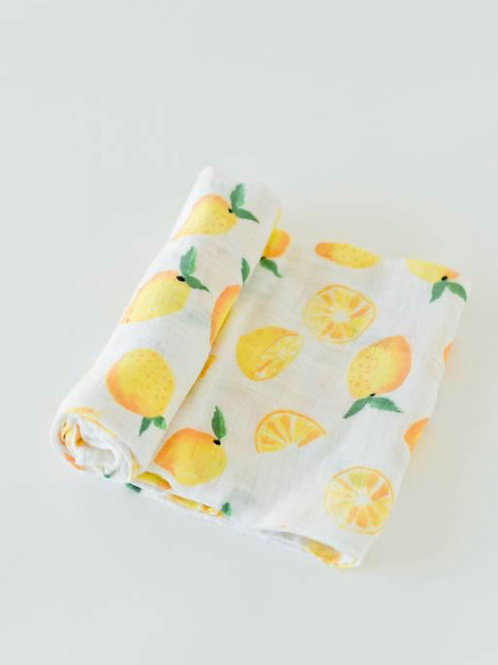 Lemon Swaddle Blanket