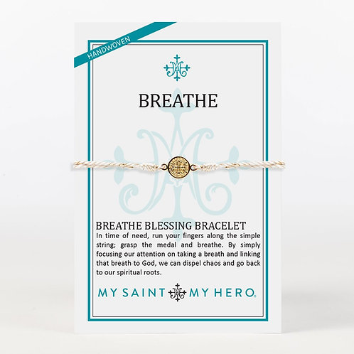 Gold/Metallic Gold Breathe Blessing Bracelet