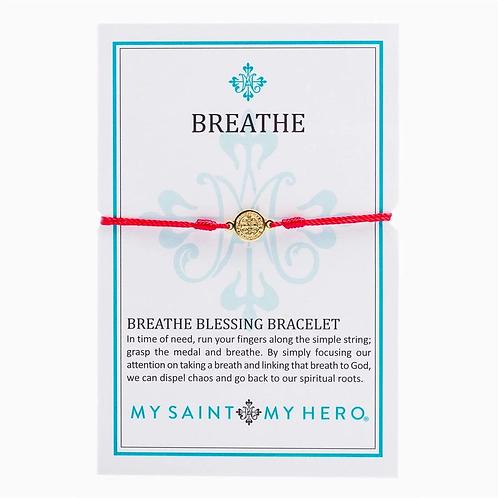 Red Breathe Blessing Bracelet