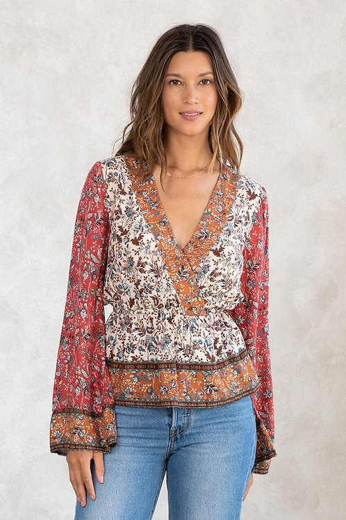 Love Stitch Bell Sleeve Top