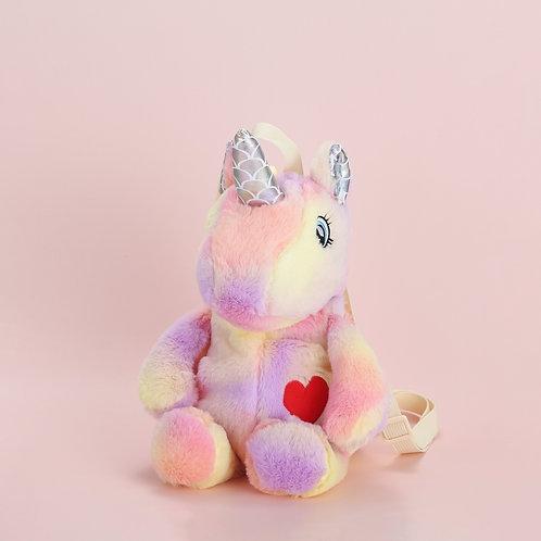 Plushie Heart Unicorn Backpack -pink