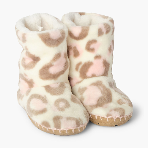 Leopard Fleece Slippers