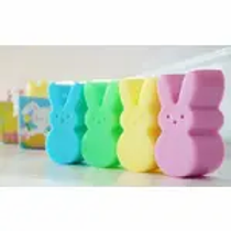 Peeps Easter bunny Soap Bars assorted pastel colors