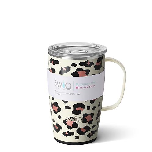 Swig 18oz Leopard Travel Mug