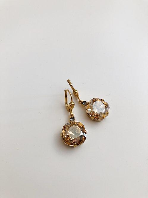 La Vie Classic Drop Crystal Earrings