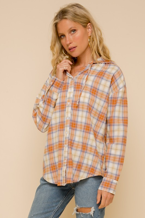 Hooded Flannel Long Sleeve
