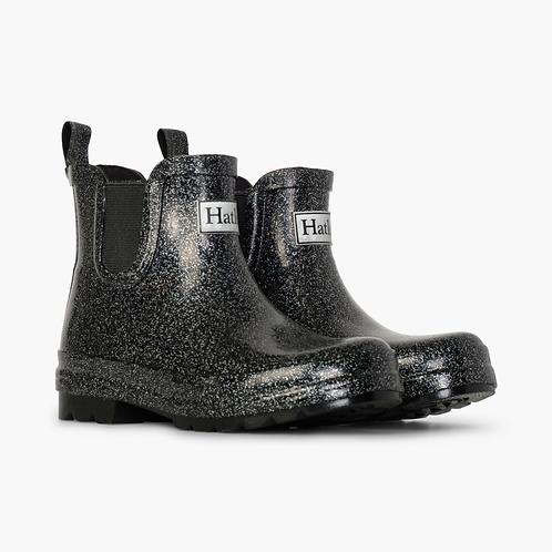 Black Glitter Rain boots