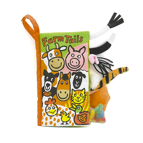Jelly Cat Farm Tails Crinkle Book