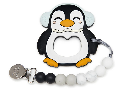 Penguin Silicone Teether Set
