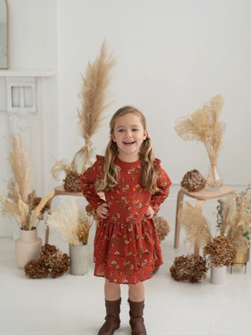 Mabel & Honey Floral Woven Dress