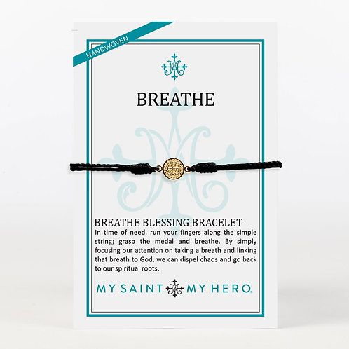 Black/Gold Breathe Blessing Bracelet