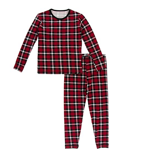 Kickee Pants Crimson Pajama Set