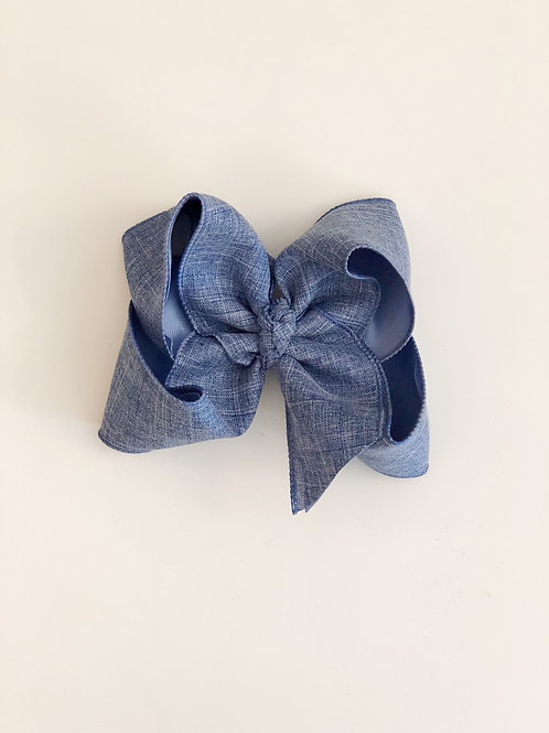 Chambray Blue Bow