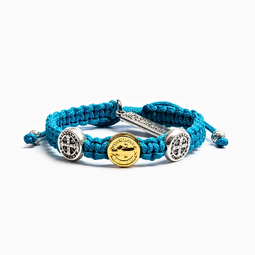 Turquoise Benedictine Blessing Bracelet For Kids