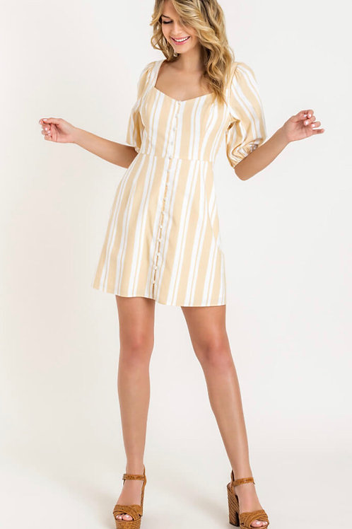 Sweetheart Puff Sleeve Dress