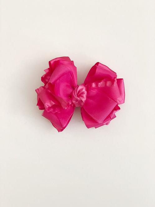 Hot Pink Layered Bow