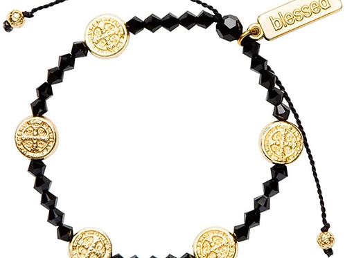 Black Gratitude Bracelet