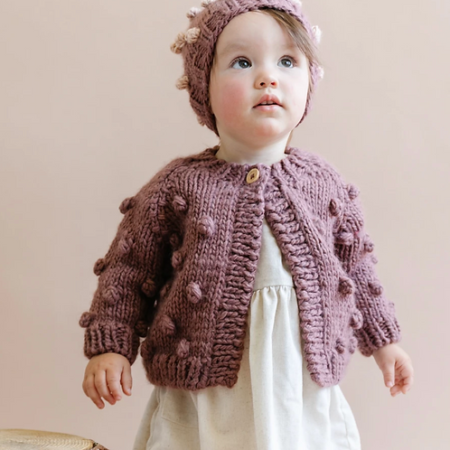 Purple Popcorn Sweater