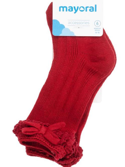 Girls Red High Socks