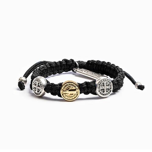 Black Benedictine Blessing Bracelet For Kids