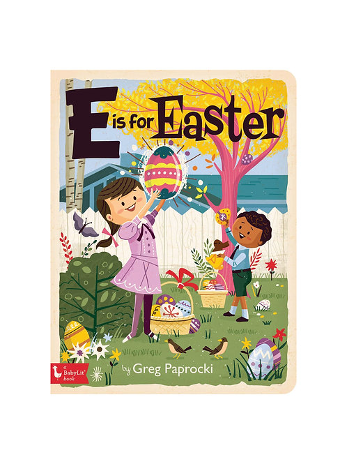 E Is for Easter Hard Cover Book
