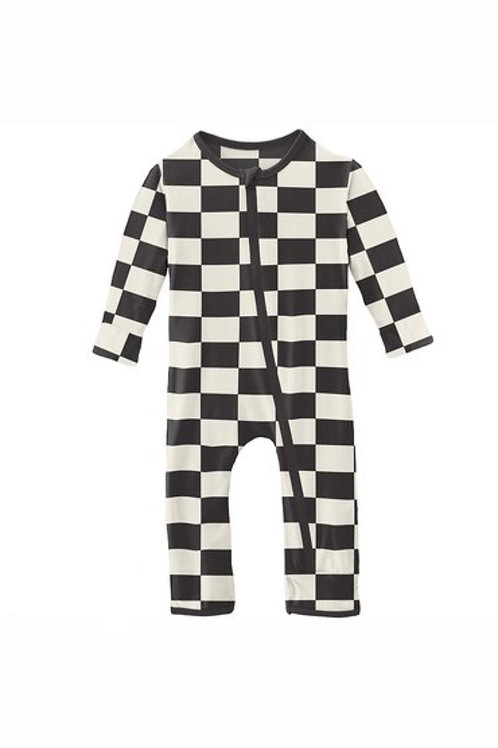 Kickee Pants Checkered Flag Coverall