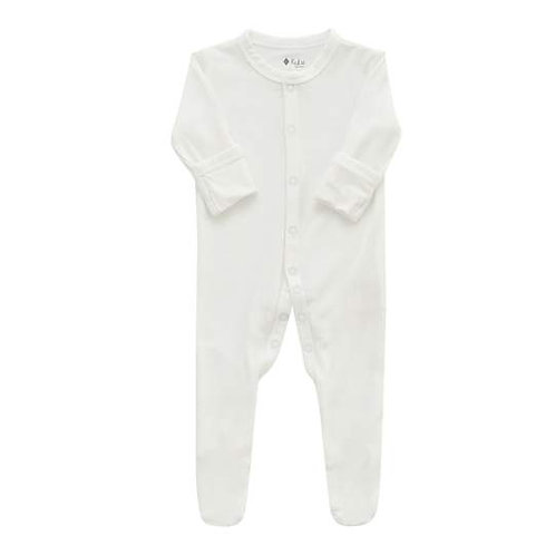 Kyte Baby Button Footie in Cloud