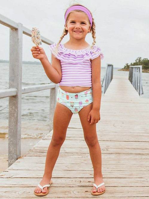 Anything is Possible Stripe Ruffled Tankini