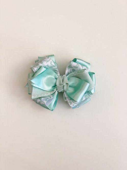 Mint Pattern Layered Bow