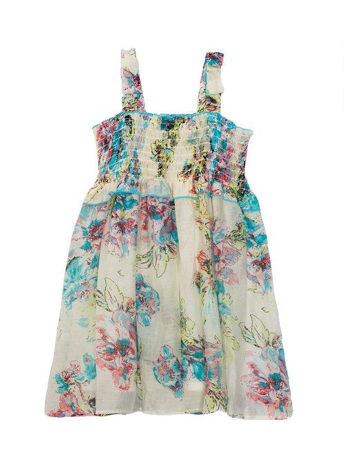 Chiffon Smocked Dress