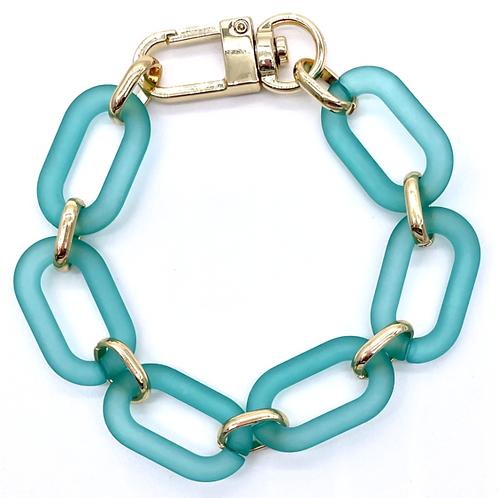 Teal Link Bracelet