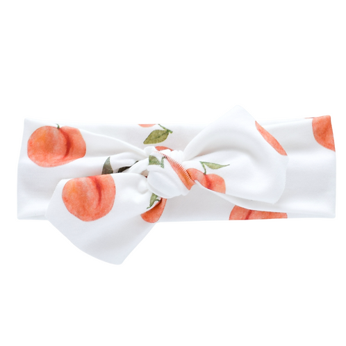 Peach Print Headband