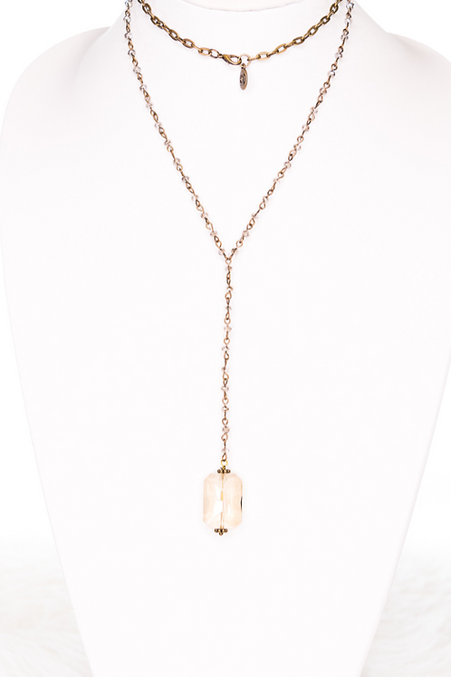 Crystal Pendant Beaded Necklace