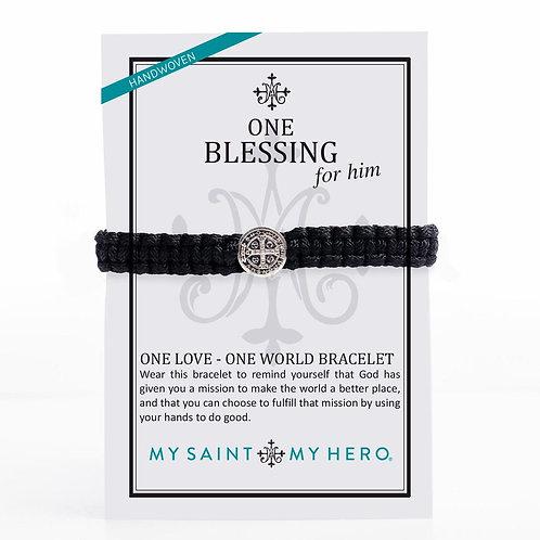 Black Blessing Bracelet For Him