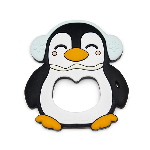 LouLou Lollipop Penguin Silicone Teether