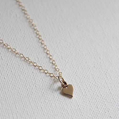 Mini Heart Charm Necklace