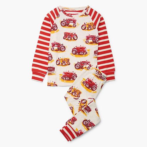 Tractor Raglan Pajama Set