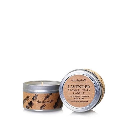 ElizabethW Lavender Travel Candle